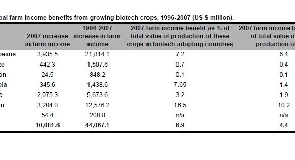 Global Impact of Biotech Crops: Income and Production Effects, 1996-2007
